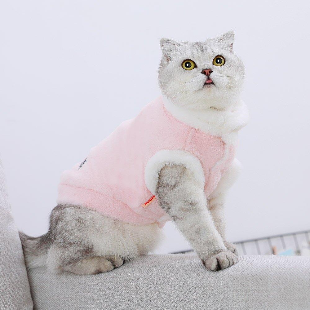 猫咪衣服防挣脱猫猫暹罗英短蓝猫加绒保暖可爱搞笑仙女宠物的冬装