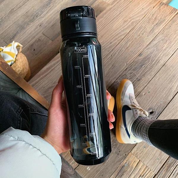 簡約純色男女塑料防摔大容量戶外水壺便攜健身運動水杯Tritan杯子 蘑菇街