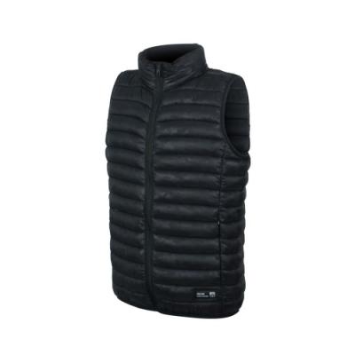 FIRESTAR 男立領鋪棉背心-防風 防撥水 保暖 無袖 禦寒 H0636-10 黑