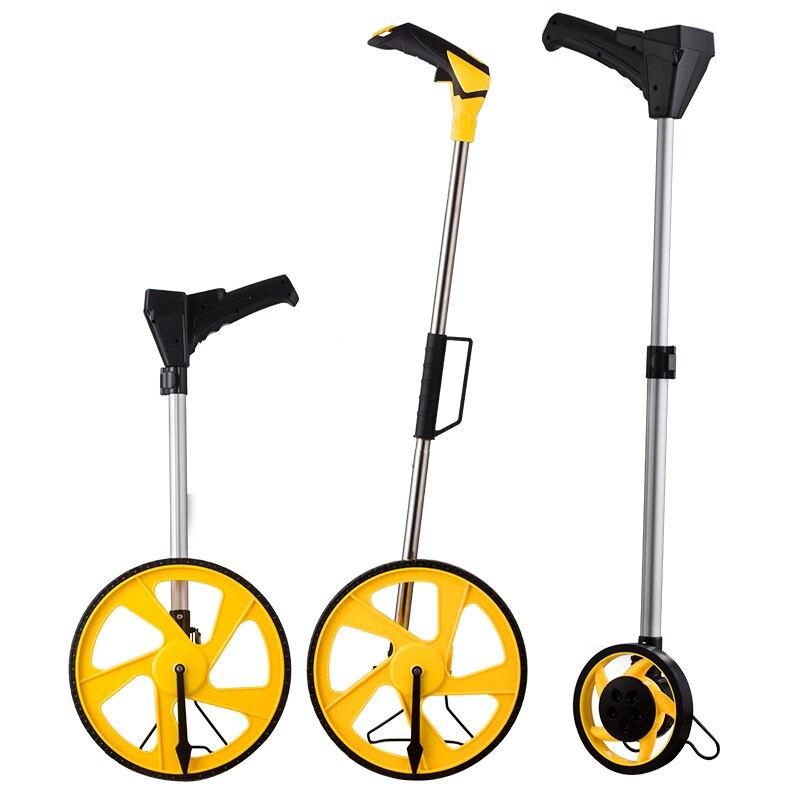 測量計數器滾輪長度標線標線輪式路面輪式電子尺車輪測繪平尺手