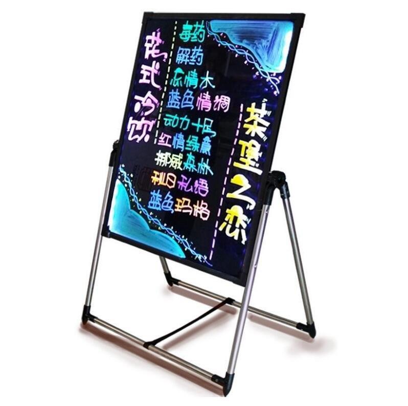 寫字板 LED熒光板60 80廣告牌發光屏 廣告牌電子黑板手寫立式寫字板
