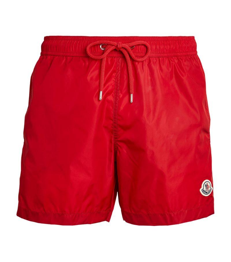 Moncler Logo Patch Swim Shorts