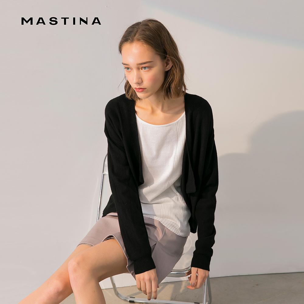 母親節全館$999免運 ▶【MASTINA】簡約素色開襟-女長袖針織衫(二色/版型適中)