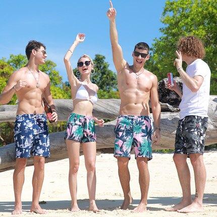 沙灘褲男士寬鬆速幹平角泳褲 海邊度假短褲 【店長推薦】  快