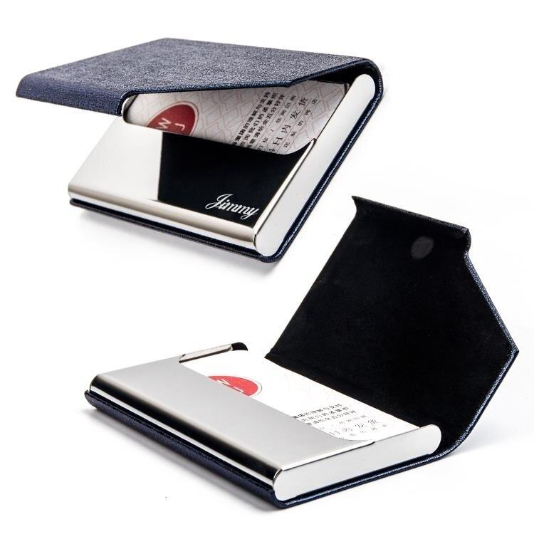 名片盒 商務女士名片夾大容量男式創意簡約名片盒卡片盒【快速出貨】