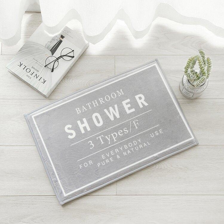 態生活 ins北歐風簡約黑白字母地墊防滑加厚浴室墊子入戶臥室門墊【快速出貨】