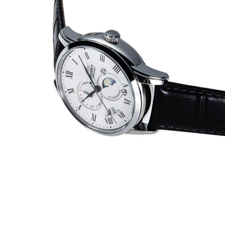 ORIENT 東方錶 SUN&MOON系列 SAK00002S 日月相腕錶 / 42.5mm