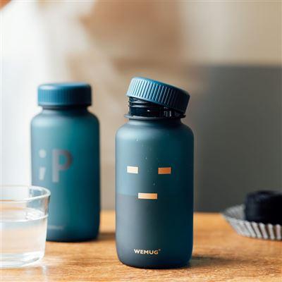 【WEMUG】Water Bottle Emoji 550ml Blue -_-