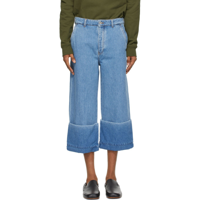 Loewe 蓝色 Fisherman 牛仔裤