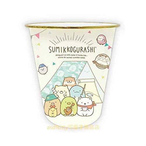 asdfkitty*日本san-x角落生物露營圓型金邊垃圾桶/收納桶/玩具桶-日本正版商品