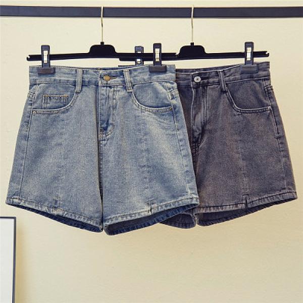短褲熱褲中大碼 大碼牛仔短褲女胖mm夏裝200斤寬松顯瘦闊腿熱褲子G885.1號公館