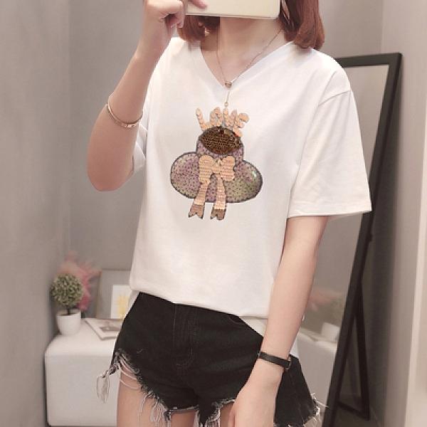 XL-4XL胖妹妹短袖T恤~932#胖MM200斤顯瘦時尚加肥大碼女裝上衣短袖t恤5F044愛尚布衣