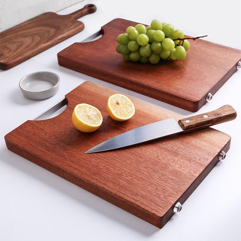 烏檀切菜板實木家用大號案板砧板整木面板占板刀板菜墩