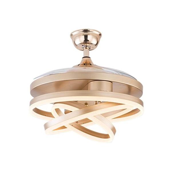 風扇燈客廳可移動折疊光源金色42寸遙控變頻餐廳吊扇燈110V 樂活生活館