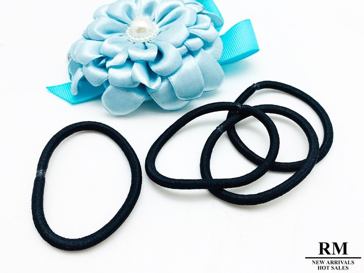 A1156-1黑色髮束|髮圈|皮筋髪圈|黑色高彈力頭繩|不傷髮耐用髪束|馬尾紮頭髪繩