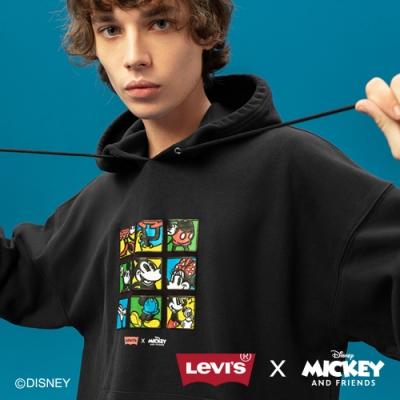 Levis X Disney 合作系列 男款 重磅口袋帽T / 寬鬆休閒版型 / 復古米奇漫畫插圖