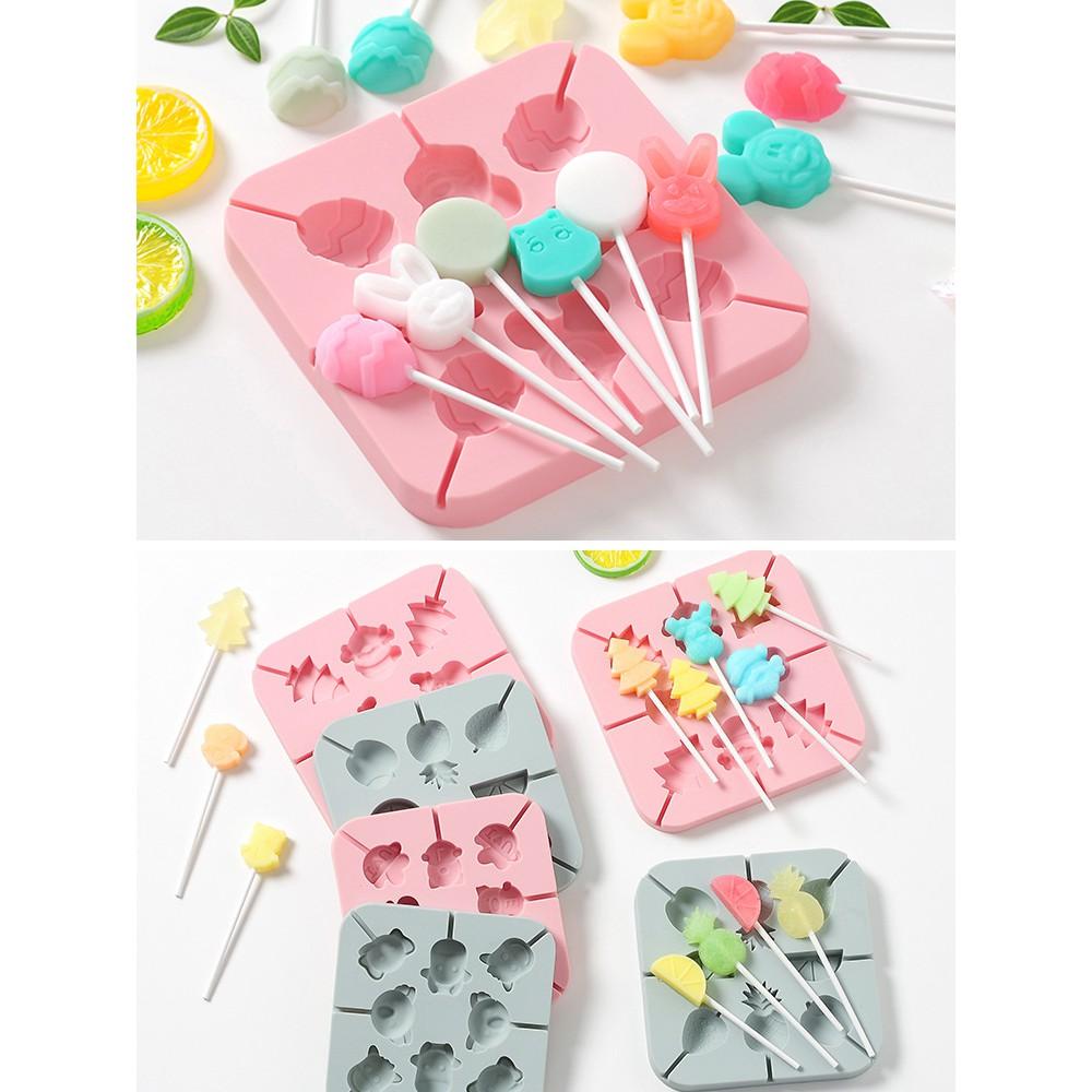 qq糖模型巧克力奶酪棒棒糖模具硅膠軟糖果凍diy手工可愛布丁糖果 新店開張全館五折