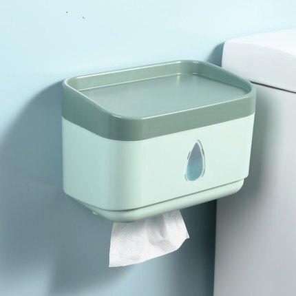壁挂式衛生間紙巾置物架免打孔抽紙家用收納廁所廁紙卷紙衛生紙盒【my28】