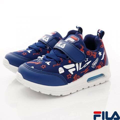 【FILA】氣墊機能運動鞋款 2-J830U-321(190/藍白紅)