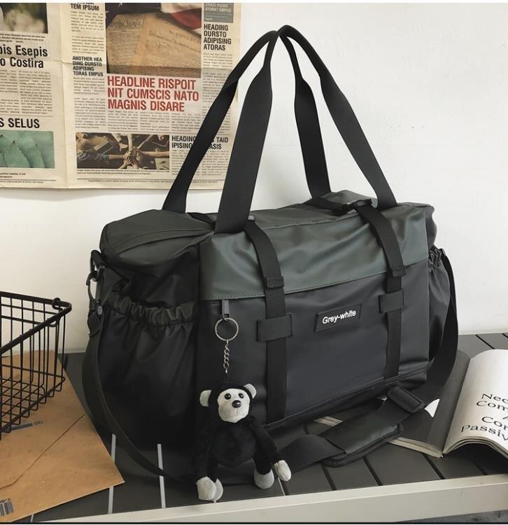 短途旅行包男手提行李包大容量出差旅行袋子運動健身包斜挎包潮牌