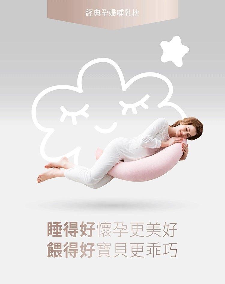 六甲村經典孕婦哺乳枕/平織印花款(秘境藍) 960元