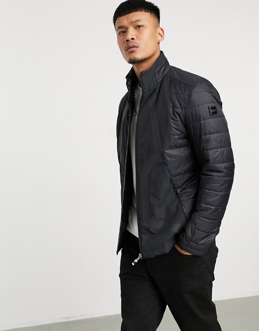 BOSS Athleisure J Mera padded jacket in black