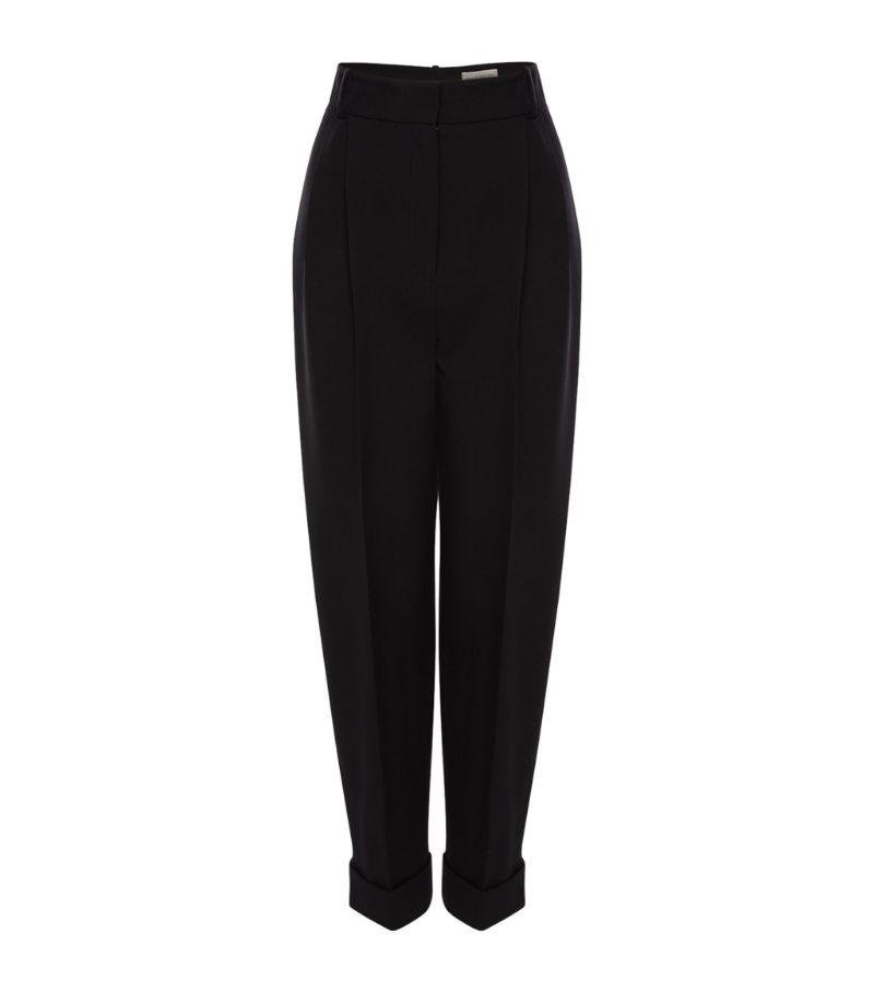 Alexander Mcqueen Virgin Wool Turned-Up Trousers