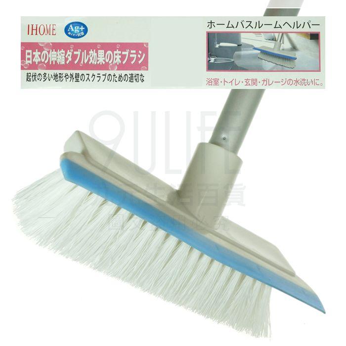【九元生活百貨】日式雙效地板刷 伸縮浴室刷 刮水刷 刮地刷 窗刷 台灣製