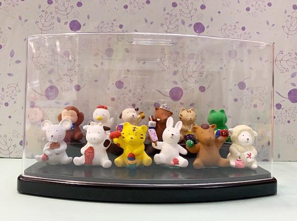 【震撼精品百貨】日本精品百貨~日本動物招財擺飾/陶瓷擺飾-組合(12入/附收藏盒)