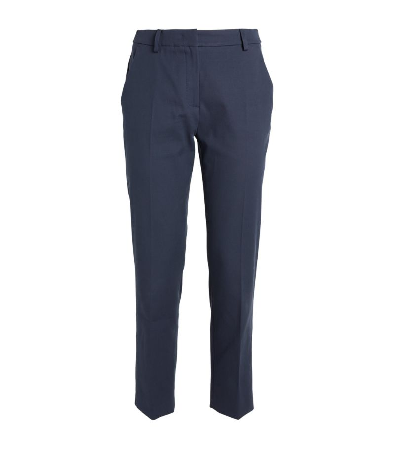 Weekend Max Mara Stretch-Cotton Tailored Trousers