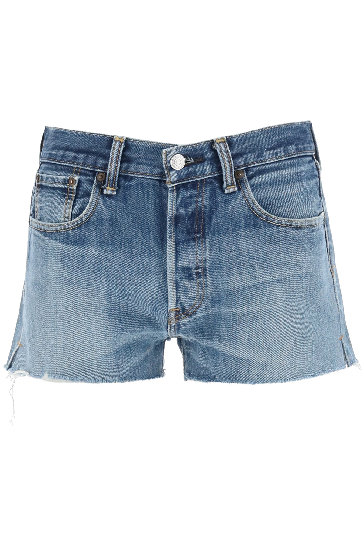 RE/DONE LEVI'S DENIM SHORTS 27 Blue Cotton, Denim