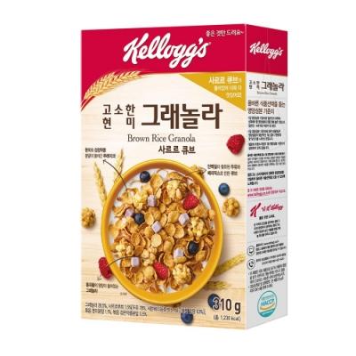 Kellogg s 家樂氏 黑豆糙米穀物脆-莓果豆漿塊(310g)
