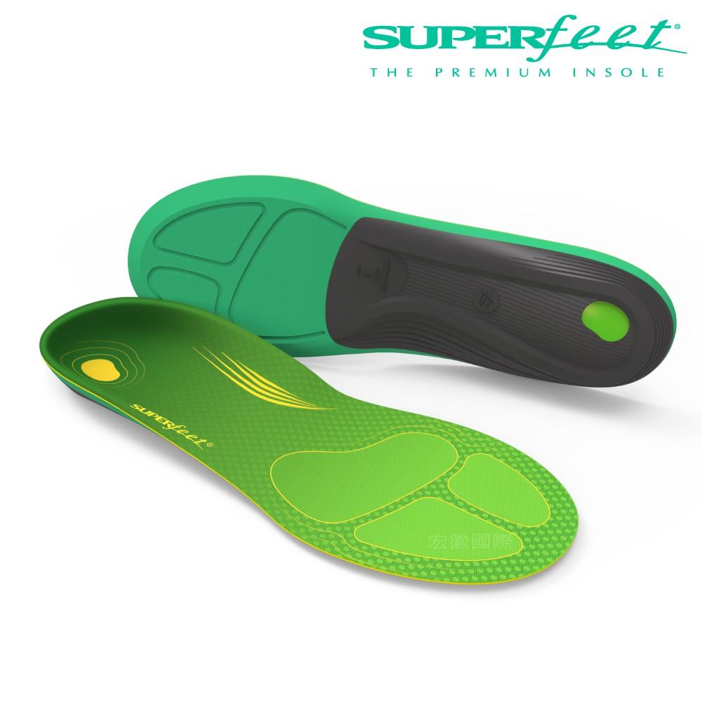 【美國SUPERfeet】大小尺碼優惠中/碳纖維路跑鞋墊-青綠色