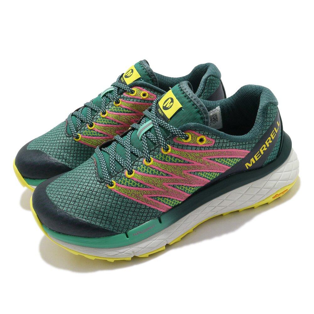 MERRELL 慢跑鞋 Rubato 運動休閒 女鞋 彈性 透氣 耐用 耐磨 黃金大底 綠 粉 [ML135136]