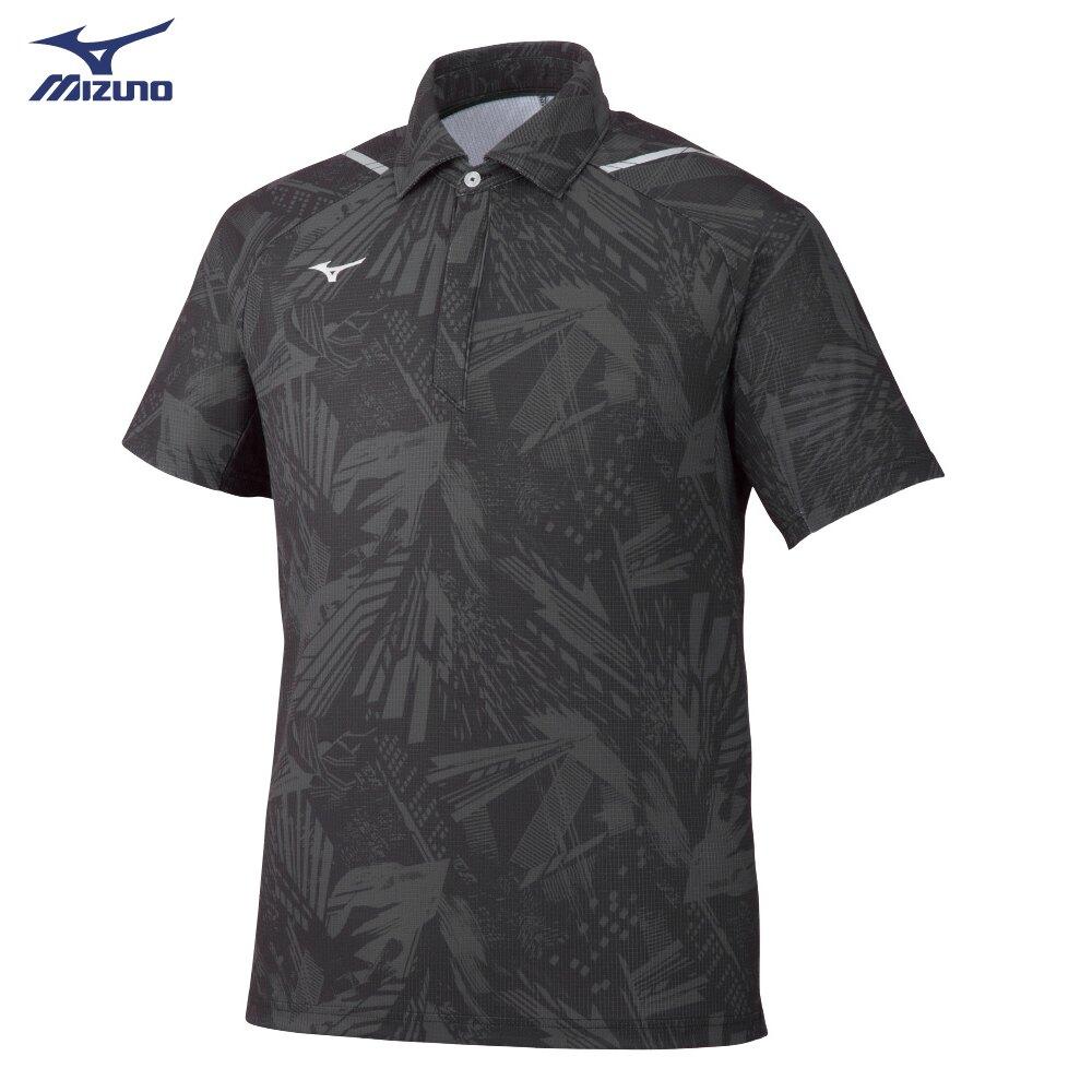 男款短袖POLO衫 世界大會系列 32MA052108(黑)【美津濃MIZUNO】