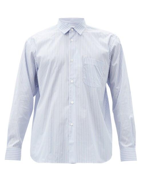 Comme Des Garçons Shirt - Forever Striped Cotton Shirt - Mens - Blue White