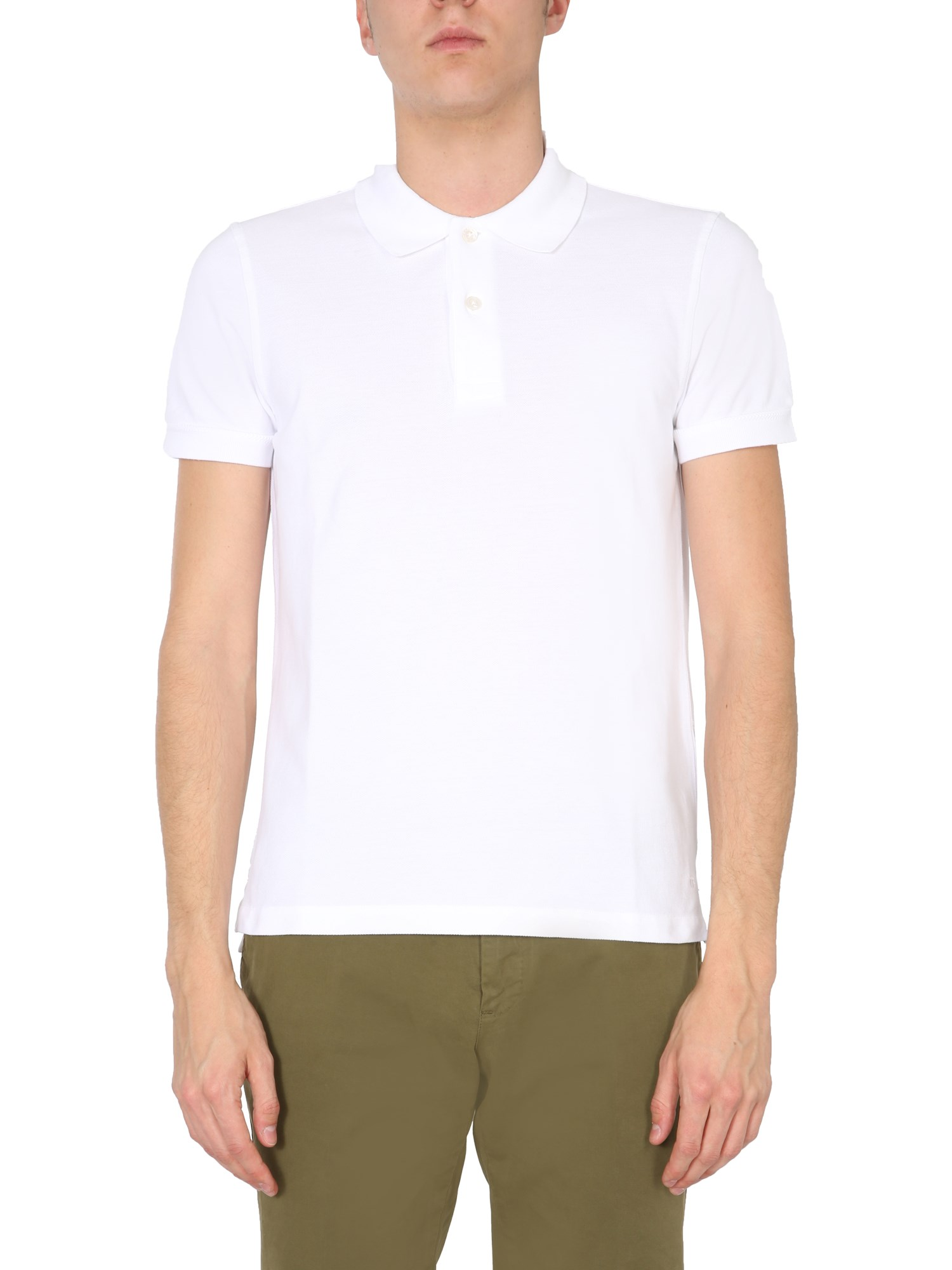 tom ford cotton piqué polo shirt