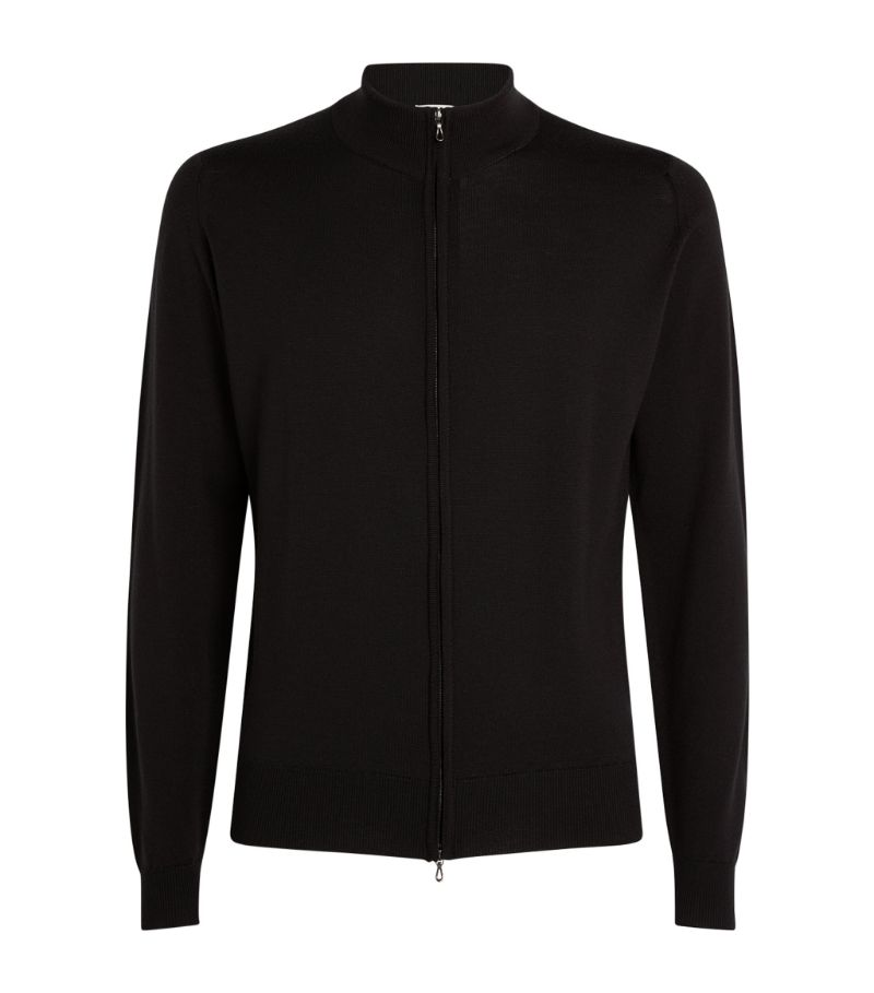 John Smedley Claygate Merino Wool Zip-Through Sweater
