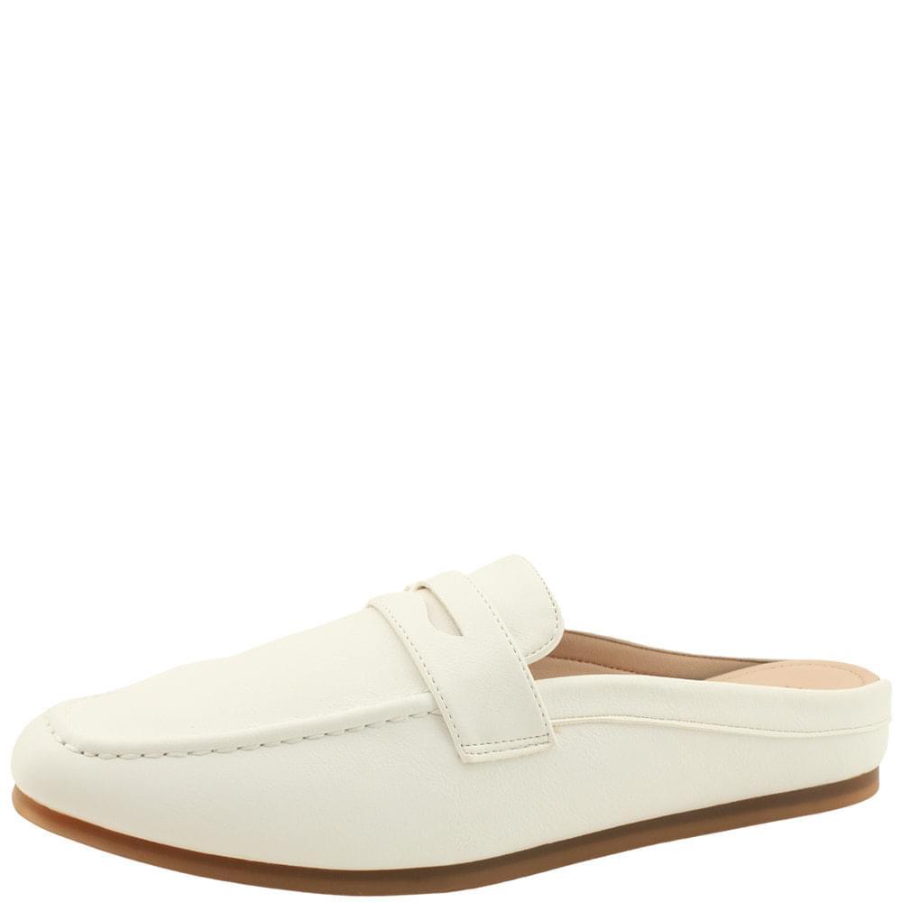 韓國空運 - Soft Cushion Flat Square Nose Blower White 樂福鞋