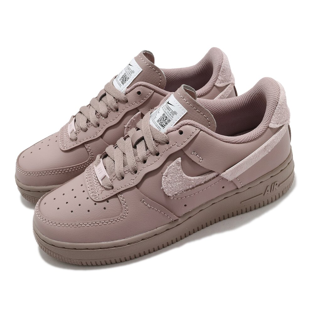 NIKE 休閒鞋 AF1 LXX 運動 女鞋 皮革 簡約 球鞋 穿搭 斷勾造型 灰 白 [DH3869-200]