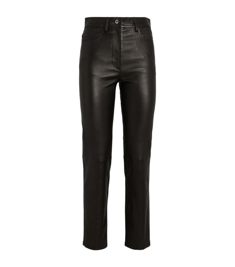 Joseph Leather Teddy Trousers