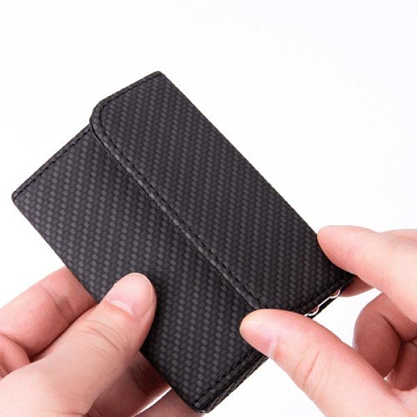 編織名片盒 商務名片盒 名片夾 信用卡夾 黑色 咖啡 沂軒精品 C0094