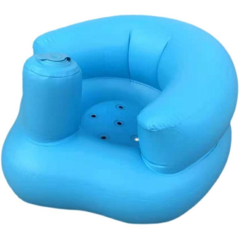 寶寶充氣學座椅 兒童充氣小沙發 嬰兒充氣座椅 便攜式 餐椅浴凳 寶寶學習座椅