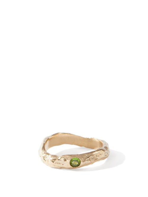 Anita Berisha - August Faux-peridot & 14kt Gold-plated Ring - Womens - Green