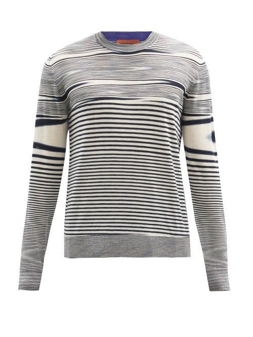 Missoni - Space-dyed Wool Sweater - Mens - Black Multi