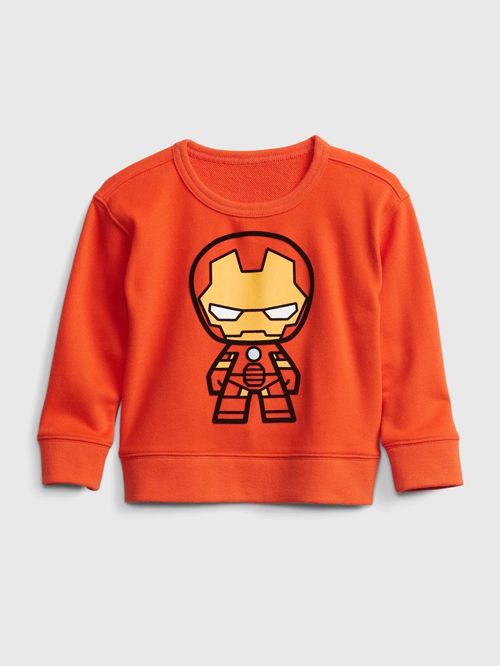 幼童 Gap x Marvel 漫威系列植絨休閒上衣
