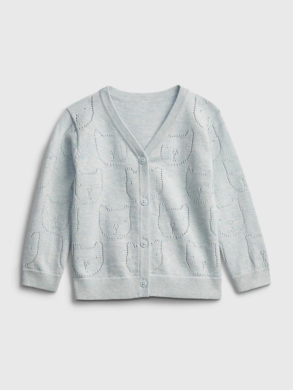 嬰兒 純棉童趣刺繡針織外套