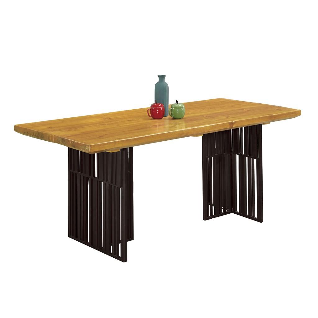 【180cm實木餐桌-A676-6】餐桌伸縮 長型餐桌組 北歐大理石桌子 圓形桌 餐桌椅組【金滿屋】