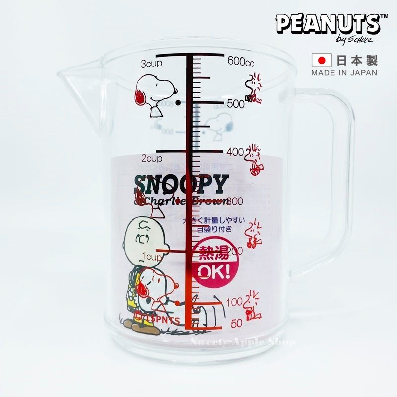 史努比【 SAS 日本限定】 SNOOPY 史努比 &糊塗塌客 廚房烹飪料理 量杯 (紅)