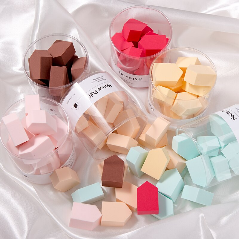 球海綿粉撲長方形粉底液化妝棉15粒化妝蛋